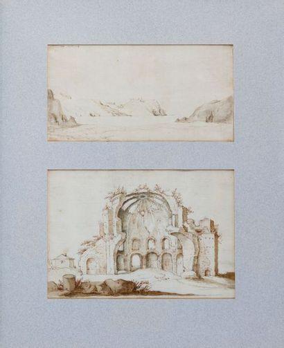 Ecole flamande du XVIIe siècle : Deux vues...