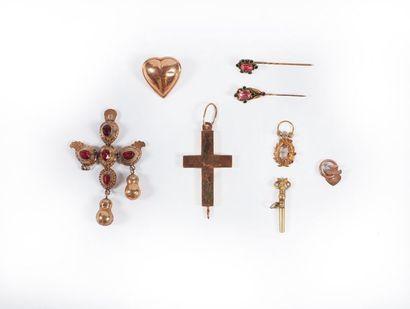LOT or : croix vendéenne et coulant, Saint...