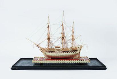 Maquette du vaisseau trois ponts le LONDON...
