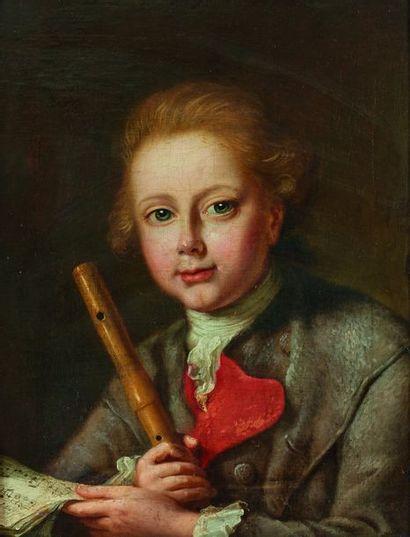 École allemande vers 1760  Jeune joueur de...
