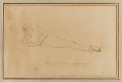 Jean-Léon GÉRÔME (1824-1904)  Nu allongé...