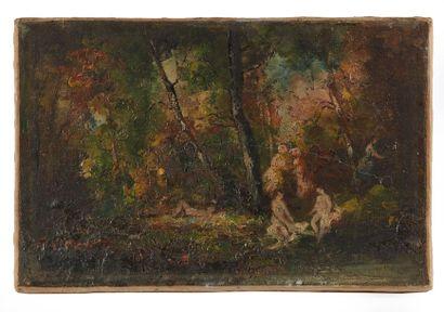 Adolphe MONTICELLI (1824-1886)  Baigneuses...