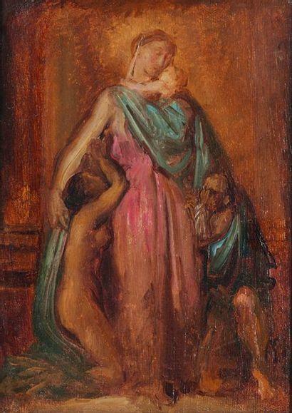 Théodore CHASSÉRIAU (1819-1856)  La Charité...