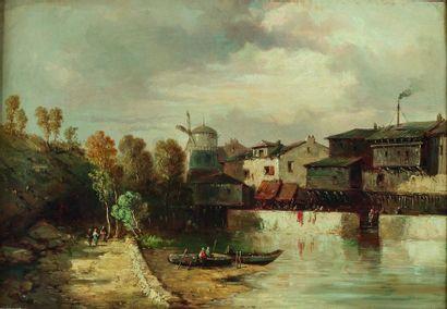 Attribué à Constant TROYON (1810-1865)  Barques...