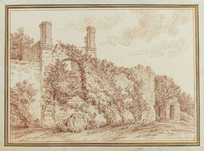 Jean-Georges WILLE (1715-1808)  Ruines du...