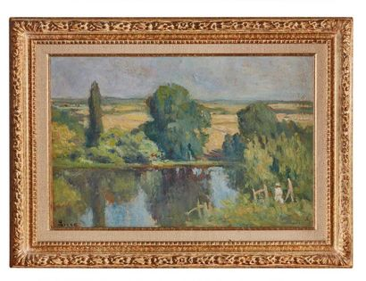 Maximilien LUCE (1858-1941)  Paysage animé,...