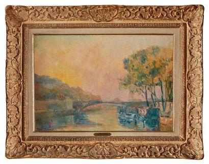 Albert LEBOURG (1849-1928)  Paris, Coucher...