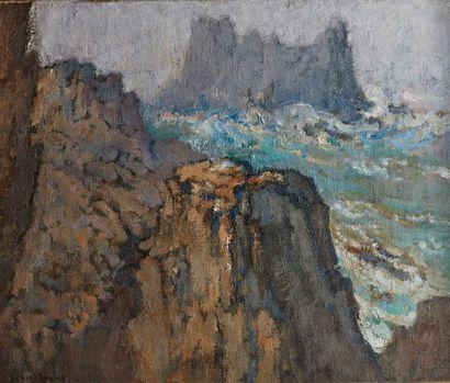 Louis-Marie DÉSIRÉ-LUCAS (1869-1949)  Tempête...