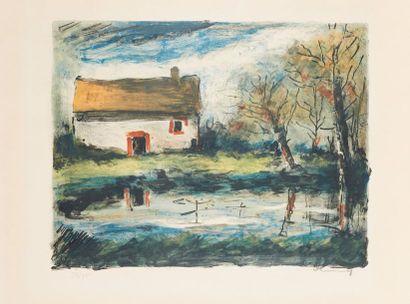 Maurice de VLAMINCK (1876-1958)  Paysage...