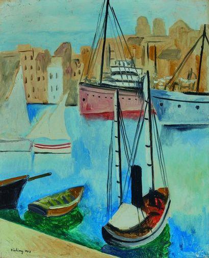 Moïse KISLING (1891-1953)  Port de Marseille,...