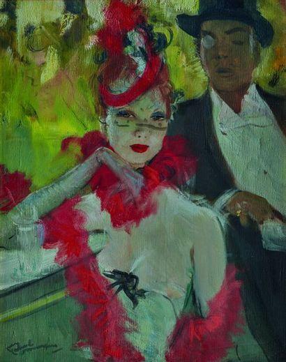 Jean-Gabriel DOMERGUE (1889-1962) Couple,...