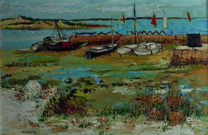 Yolande ARDISSONE (née en 1927)  Voiliers...