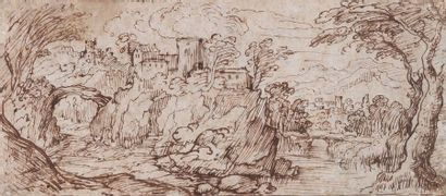 Ecole flamande du début du XVIIe siècle  Vue...