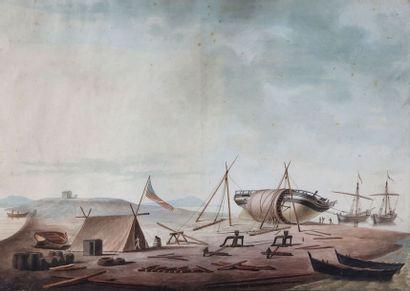 Antoine ROUX (1765-1835)  Chantier naval...