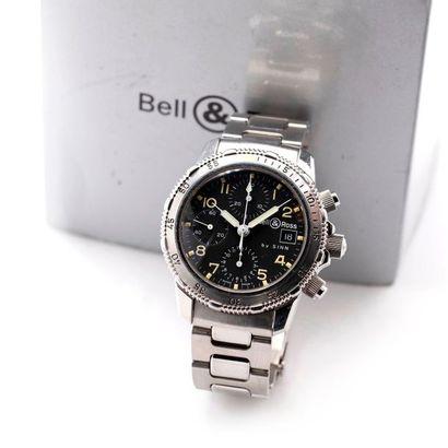 Bell & Ross, by Sinn, Diver 300, vers 1996  Chronographe en acier, automatique de...