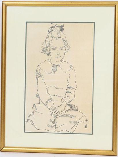 Egon Schiele (1890-1918)  Artiste peintre,...