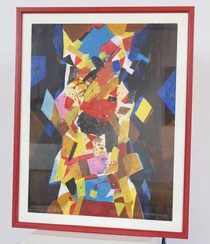 Mett Hoffmann (1914-1993)  Artiste peintre...