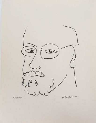 Autoprotrait d'Henri Matisse (1869-1954)...