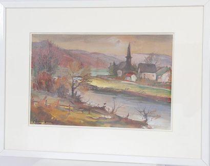 Théophile Steffen (né en 1921)  Artiste peintre...