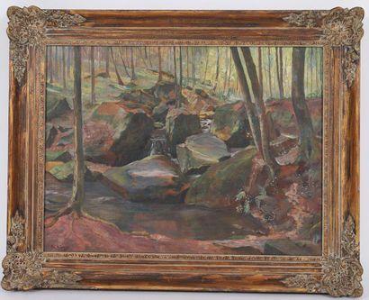 Jos Sunnen (1894-1969)  Artiste peintre luxembourgeois,...