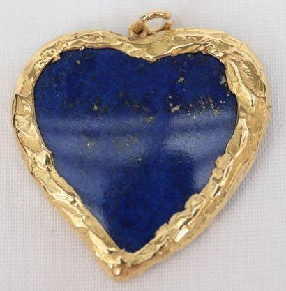 Pendentif Lapis-Lazuli  Monture en Or jaune...