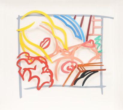 """Maquette for bedroom blonde Doodle with photo"" de Tom Wesselmann (1931-2004) Artiste..."