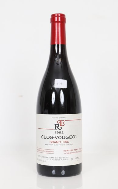 Clos de Vougeot (x1)  Grand Cru  Domaine...