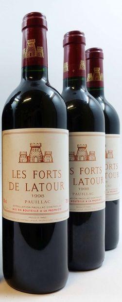 Les Forts de Latour (x3)  Pauillac  1998...