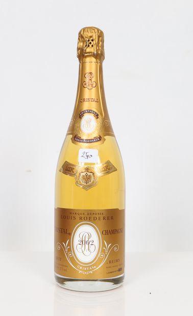 Cristal Roederer (x1) Champagne brut 2002...