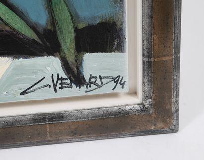 """""""Cafetière bleue"""" de Claude Venard (1913-1999)  Artiste peintre français de la mouvance..."""