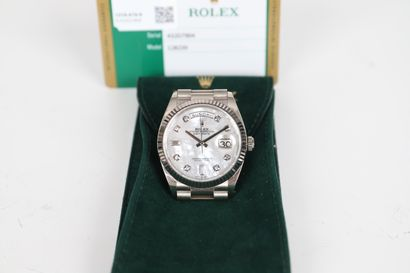 ROLEX DAY-DATE Ref 128239 Vers 2019 N° 432D7904 Montre bracelet en or blanc 18k...