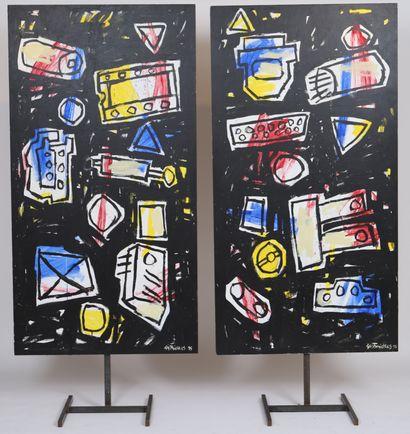 Gast Michels (1954-2013)  Artiste peintre...