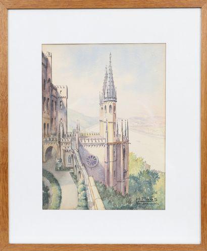 Harry Poos (1896-1982)  Artiste peintre luxembourgeois,...