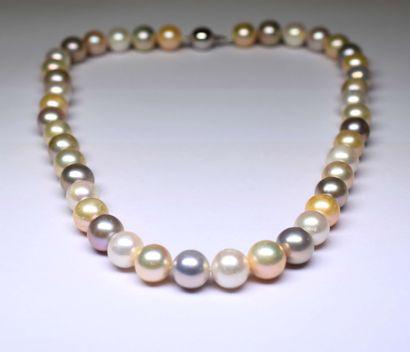 Très important collier de perles de culture...