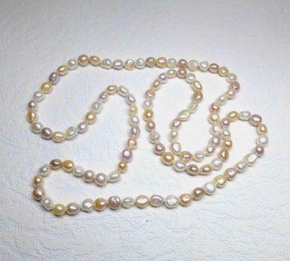 Sautoir très original en perles de culture...