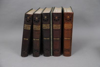 LAROUSSE MENSUEL illustré  ANNEES 1907 à...