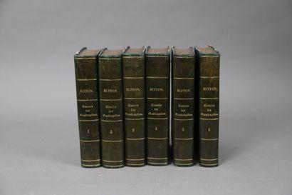 BUFFON – HISTOIRE des QUADRUPEDES.  6 volumes...