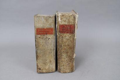 DICTIONNAIRE FRANÇAIS-LATIN. 1813.  2 volumes...
