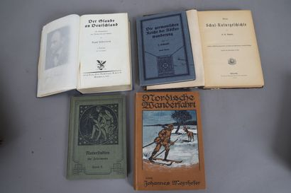 LOT de 5 volumes en langue allemande.