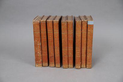 ŒUVRES de BUFFON  Paris 1835,  9 volumes...