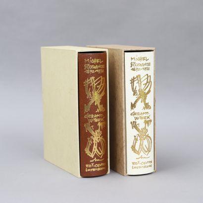 MICHEL RODANGE Gesamt-Wierk  2 volumes modernes...