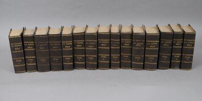 LA SAINTE BIBLE  En 15 VOLUMES reliés.  Lyon/...