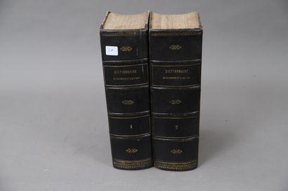 DICTIONNAIRE d'HISTOIRE.  1873  2 volumes,...