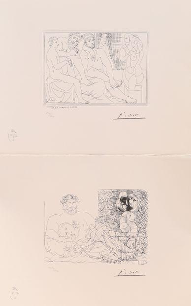 Pablo Picasso (1881-1973)  Paire de lithographies...