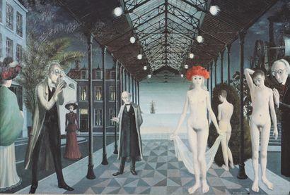 Paul Delvaux (1897-1994)  Impression marouflé...