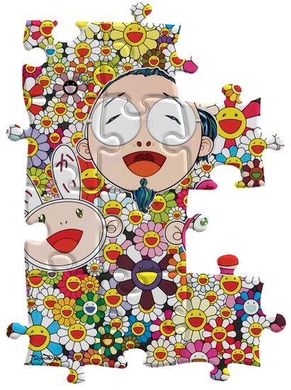 BrainRoy (né en 1980)  Puzzle hommage Murakami,...