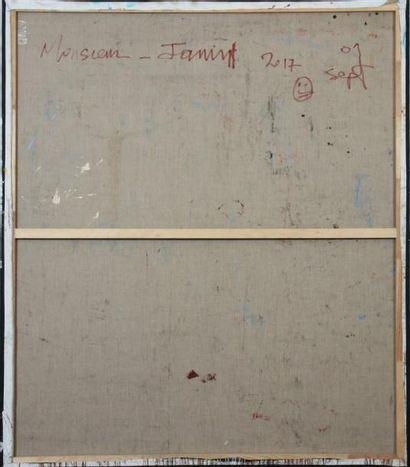 """""""RETOUR A L'ENVOYEUR"""" de Mr JAMIN (1982 à ...) Technique Mixte sur toile. Signé..."""