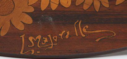 RARE GUERIDON DE SALON ART NOUVEAU 1900 signée MAJORELLE ( Louis MAJORELLE 1859-1926...