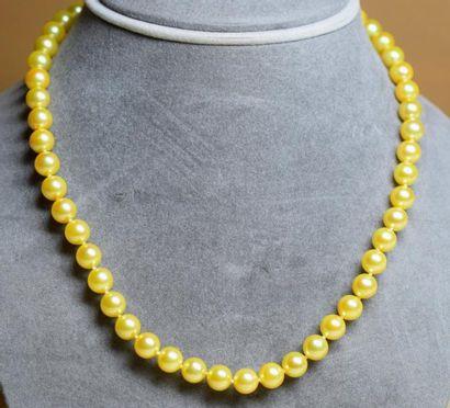 Très rare, cet important collier couleur...