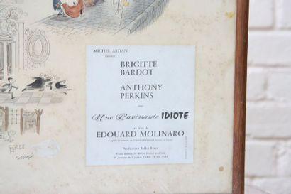 Affiche du film Affiche signée Sempé présentant certains passages du film. Epoque...